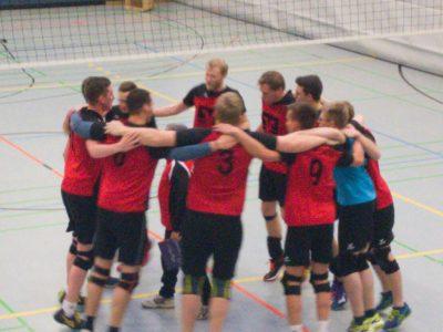 Sieg Herrenmannschaft Volleyball gegen Sorpesee